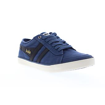 Gola Comet  Mens Blue Canvas Retro Low Top Lifestyle Sneakers Shoes