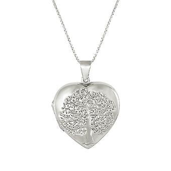 Eeuwige collectie boom van het leven Sterling zilveren hart medaillon hanger