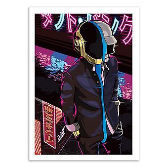 Kunst-poster-Daft Neon-Samuel Ho 50 x 70 cm