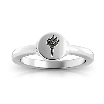 New York University Engraved Sterling Silver Signet Ring