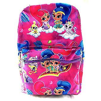 Backpack - Shimmer And Shine - Pink School Bag New 100193