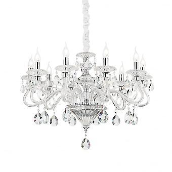 Ideal Lux Negresco 10 lamp hanger licht transparant