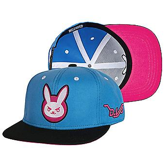 Baseball Cap - Overwatch - D.VA Target Blue Snap-Back Hap White/Blue j8229