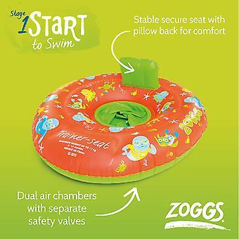 Zoggs trainer bebê inflável nadar assento em laranja/verde-3-12 months/0-11 kg