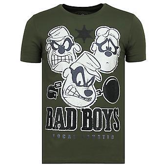 Beagle Boys-Funny T shirt män-6319G-grön