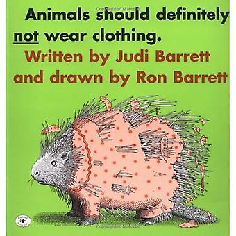 Animaux ne devrait certainement pas porter de vêtements