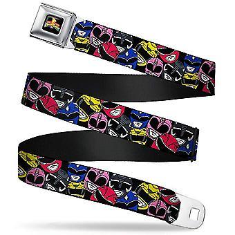 Seatbelt Belt - Power Rangers - V.13 Adj 24-38' Mesh New pra-wpr018