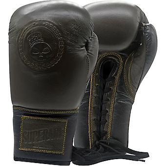 Superare OG Lace Up Training Boxing Gloves - Brown