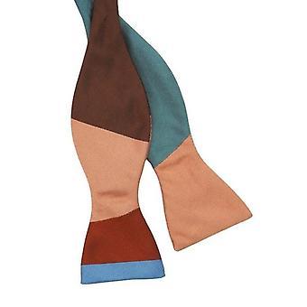 Gene Meyer Wide Stripe Bow Tie - Pink/Multi-colour