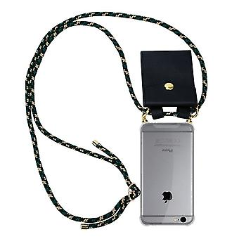 Cadorabo telefon kedja fallet för Apple iPhone 6 PLUS/iPhone 6S PLUS fodral Cover-halsband silikon axelväska med sladd band sladd och avtagbart fodral-skyddande fodral Cover