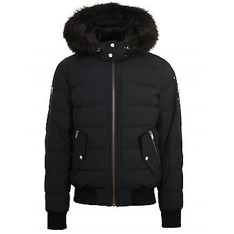 Moose Knuckles Black & Forest ScotchTown Bomber Jacket