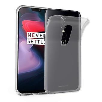 Cadorabo geval voor OnePlus 6 gevaldekking-mobiele telefoon geval gemaakt van flexibele TPU silicone-silicone geval beschermende case ultra slanke zachte terug Cover Case bumper