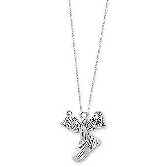 925 Sterling hopea kiillotettu lahja boxed kevätrengas rhodium päällystetty CZ Cubic Zirkonia Simuloitu Diamond Uskonnollinen Guardia