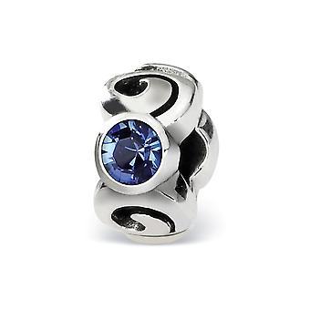 925 plata esterlina pulido reflexiones Sept cristal perla encanto colgante collar regalos de joyería para las mujeres