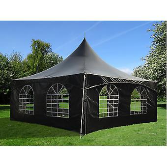 Tente de réception PartyZone 5x5m, PVC, Noir