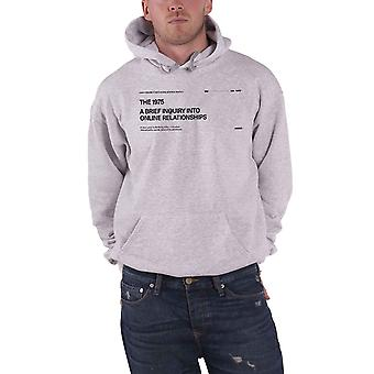 The 1975 Hoodie A Brief Inquiry Band Logo new Official Mens Grey Pullover