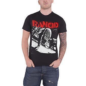 Rancid T Shirt Boot band logo new Official Mens Black