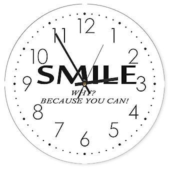 Reloj decorativo con imagen, sonrisa