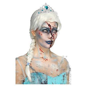 Womens zombie fryst till döden Wig Halloween tillbehör