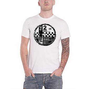 The Beat T Shirt 2 Tone Label Band Logo new Official Mens White