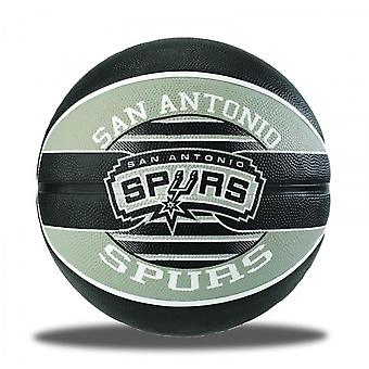Spalding San Antonio Spurs NBA Team Basketball Grey/Black