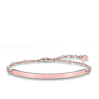 Thomas Sabo Love Bridge Rose Gold Zirconia Bracelet LBA0040-416-14