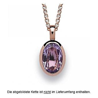 bastian inverun - 925 silver pendant, rose gold plated with amethyst 2.45 ct - 22460
