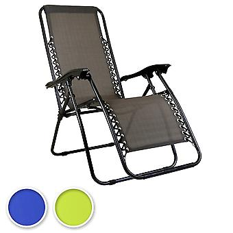 Charles Bentley Faltbare Liegens Garden Chair Camping Recliner Lounger mit Adjustable Back-Fully Assembled