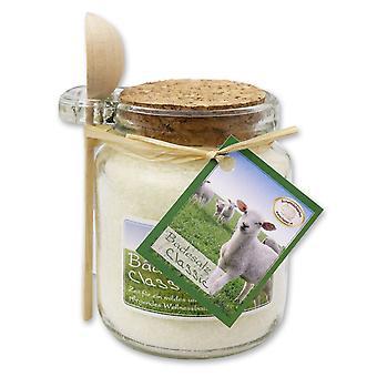 Florex Bath Sais Banho Additive Sheep's Milk Classic em vidro decorativo com colher de pau 300 g