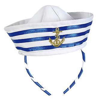 Hairband nautical sailors cap anchor accessory weß-blue