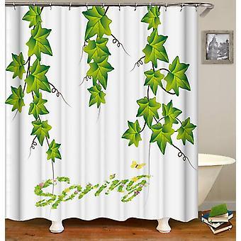 Spring Vine Leaves Shower Curtain