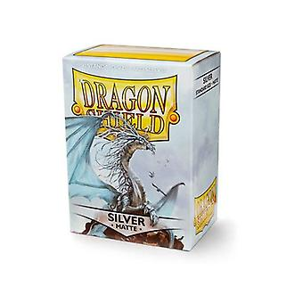 Dragon Shield Mate Plata Non Glare 100 Mangas (Pack de 10)