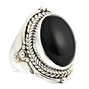 Ring 925 Silber mit Onyx 56 mm / Ø 17.8 mm (KLE-RI-059-03-(56))