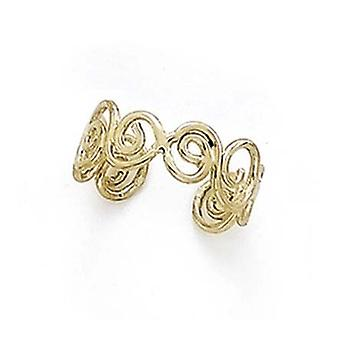 14k Yellow Gold Polished Spirals Toe Ring Jewelry Gifts for Women - 1.4 Grams