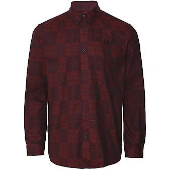 Fred Perry Tonal Tartan Camisa M7594 943