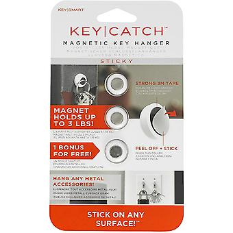 Keysmart KeyCatch Sticky Magnetic Key Rack - 3 Pack