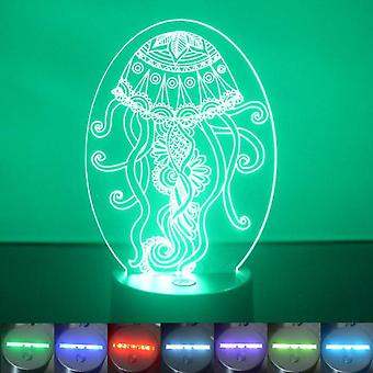 Decorative Jellyfish Oval Colour Changing LED Acrylic Light