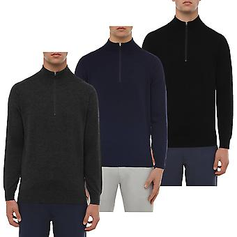 Wolsey Mens Merino Wool 1/4 Zip Moisture Wicking Sweater