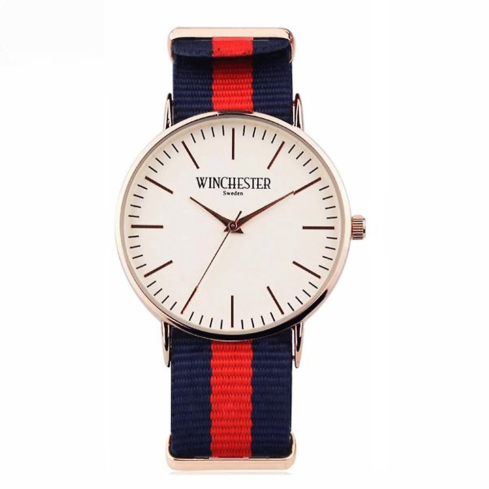 NATO band men's lady watch Winchester of Sweden red