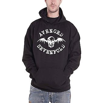 Avenged Sevenfold hoodie bat crânio banda logo oficial Mens New Black pullover