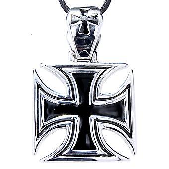 Wisiorek 102 krzyż żelaza - stal nierdzewna