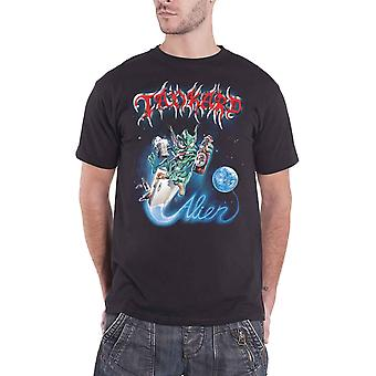 Tankard T Shirt Alien Band Logo new Official Mens Black