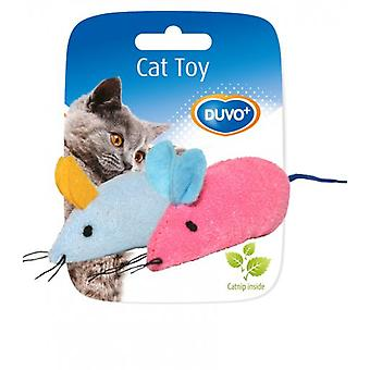 Duvo+ Assortment Toy Mice 2 Uni Cat. 6 x 5 x 3 cm (Cats , Toys , Mice)
