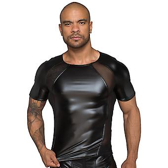 Wetlook Shirt With Mesh Sections