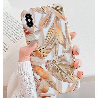 Mobile shell for iPhoneX/XS beautiful leaves with details in gold