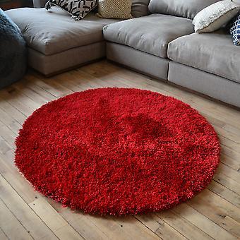 Chicago zottige Teppiche In rot