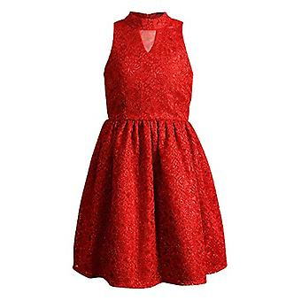 Emily West Girls Special Occasion Holiday Dress, Red, 7
