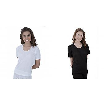 Ladies Thermal Wear Short Sleeve T Shirt Polyviscose Range (British Made)