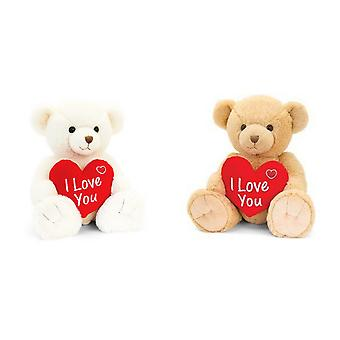 Keel Toys Snuggles Bear With Heart Plush Toy
