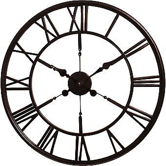 House of Durante The Blackpool Skeleton Wall Clock 60cm Dark Copper Finish